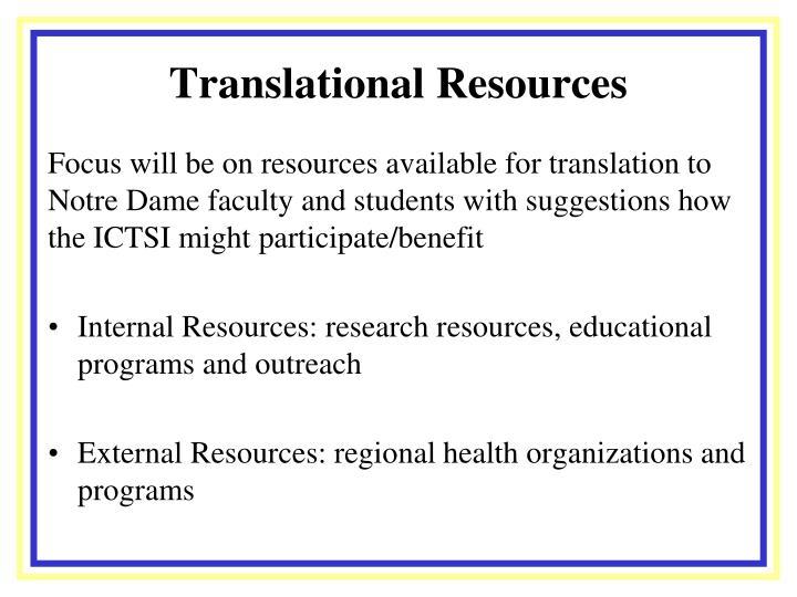 Translational resources