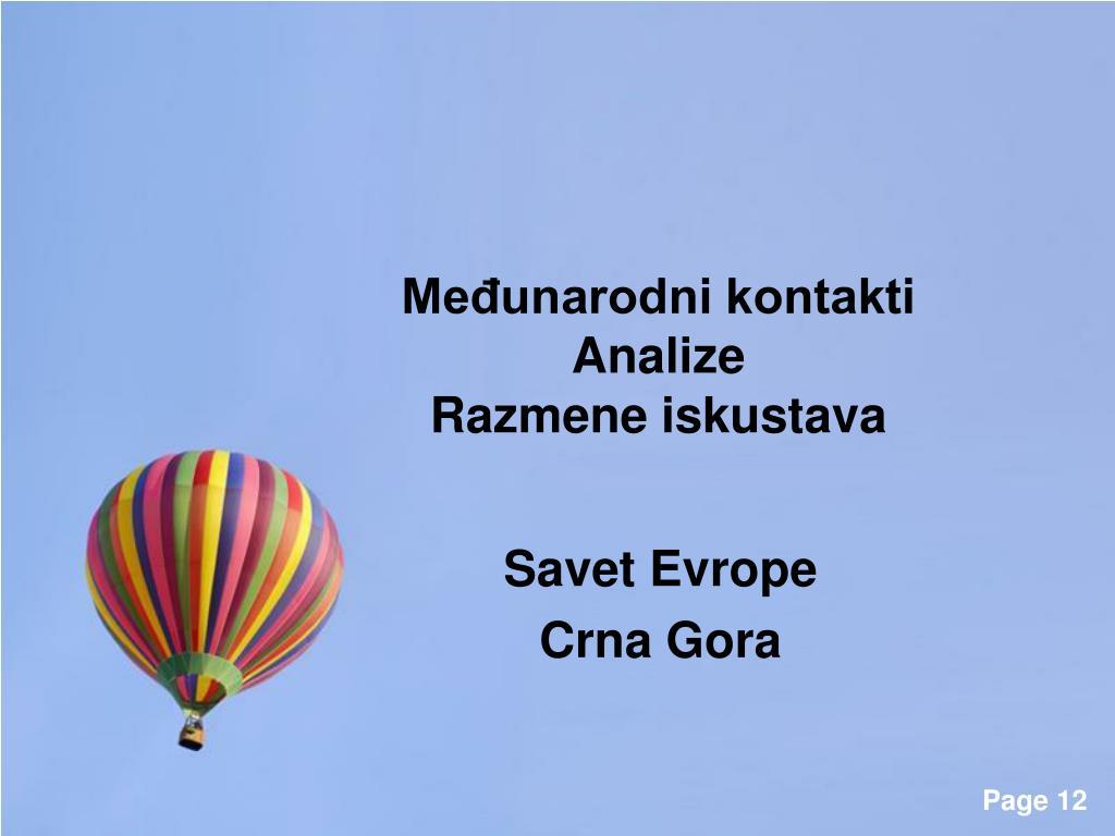 Crna gora kontakti gay Kontakti
