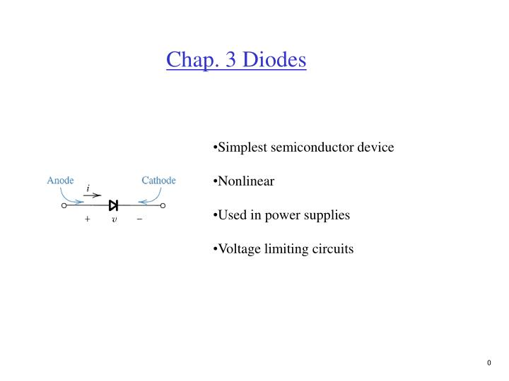 PPT - Chap  3 Diodes PowerPoint Presentation - ID:4525584