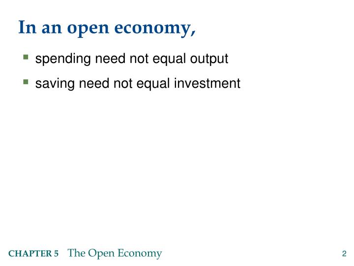 In an open economy