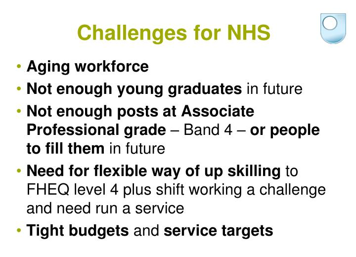 Challenges for NHS