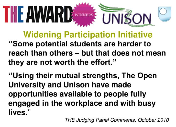 Widening Participation Initiative