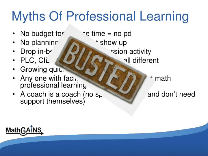 Myths Of Professional Learning