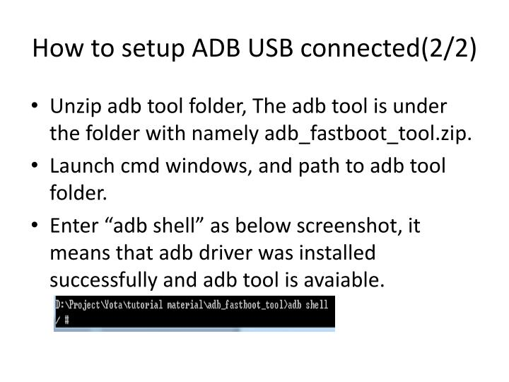 How to setup ADB USB connected(2/2)