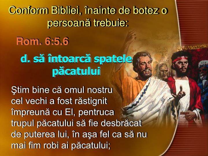 Conform Bibliei,