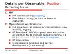 details per observable position remaining issues1