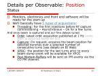 details per observable position status