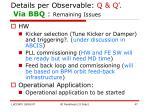 details per observable q q via bbq remaining issues
