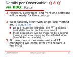 details per observable q q via bbq status