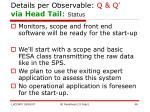 details per observable q q via head tail status