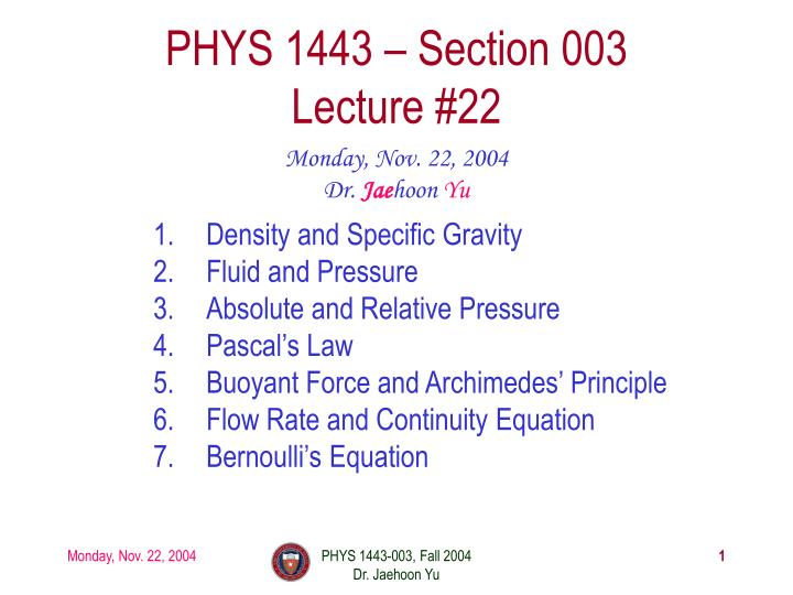 PPT - Density and Specific Gravity Fluid and Pressure