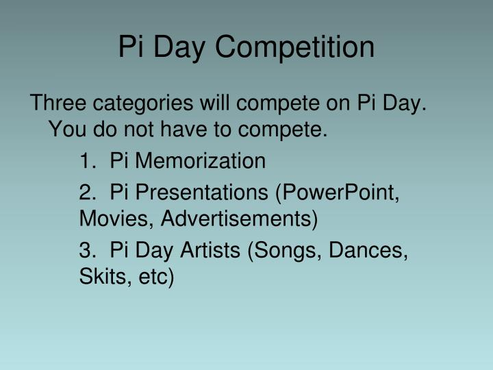 Pi Day Competition