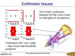 collimator issues1
