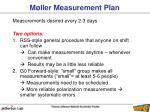 m ller measurement plan