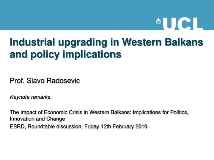 industrial upgrading in western balkans and policy implications n.