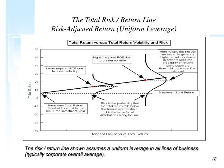 The Total Risk / Return Line