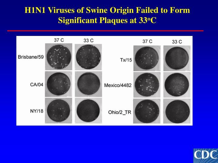 H1N1 Viruses of Swine Origin Failed to Form