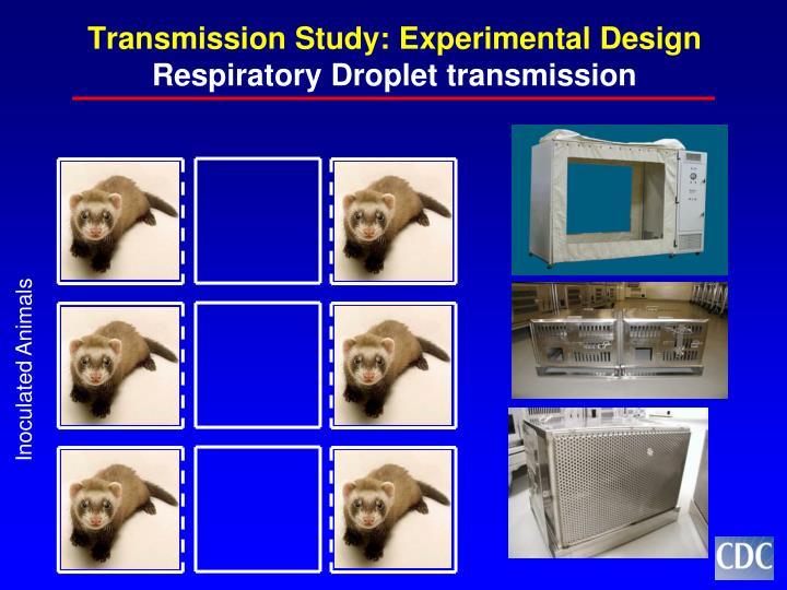 Transmission study experimental design respiratory droplet transmission