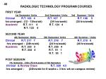radiologic technology program courses