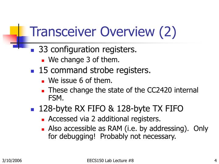 Transceiver Overview (2)