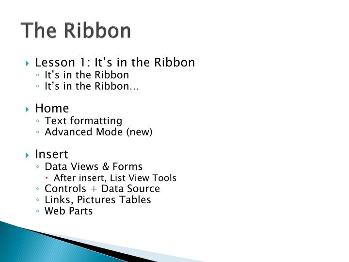 The Ribbon