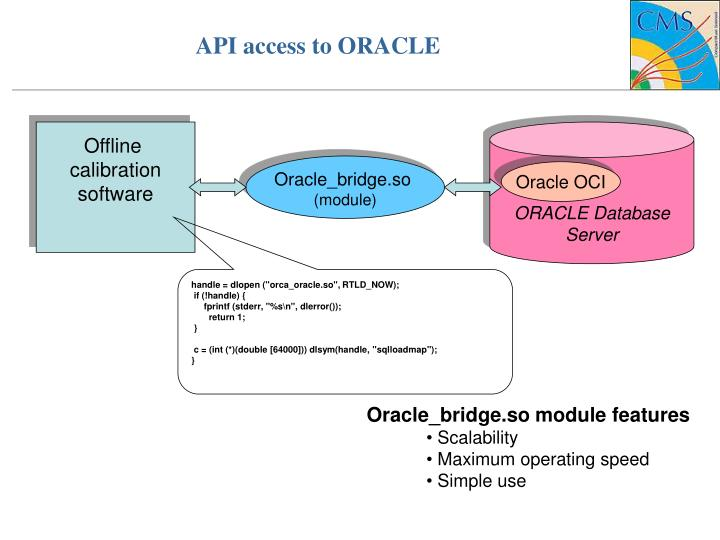 API access to ORACLE