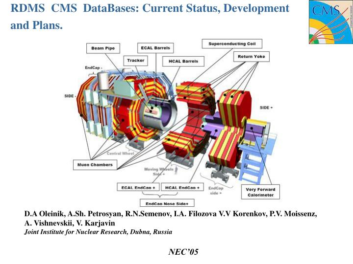 Rdms cms databases current status development and plans