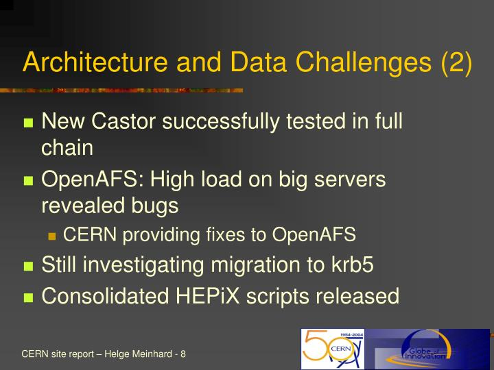 Architecture and Data Challenges (2)