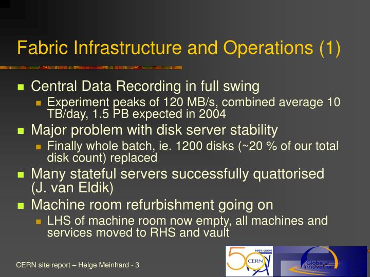 Fabric infrastructure and operations 1