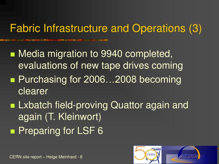 Fabric Infrastructure and Operations (3)