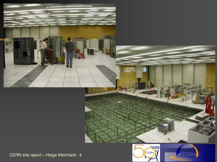 CERN site report – Helge Meinhard -