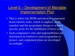 level 5 development of mandate implementation plan1