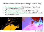 other validation source nowcasting saf dust flag
