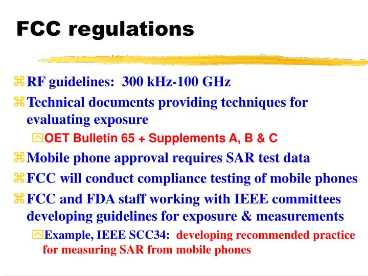 FCC regulations