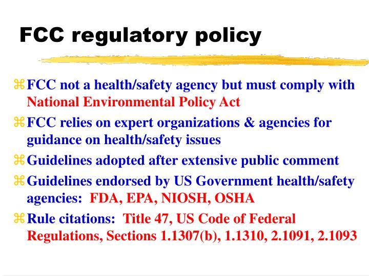 FCC regulatory policy