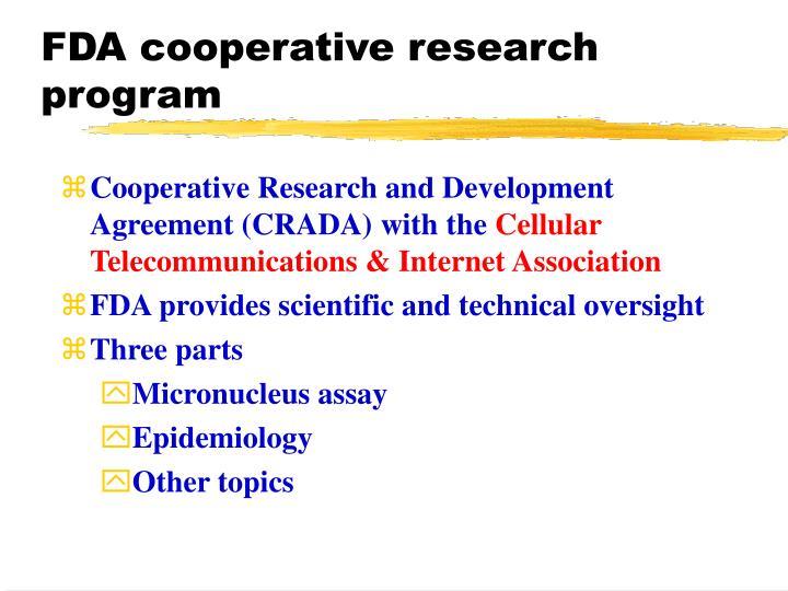 FDA cooperative research program