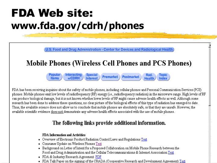 FDA Web site: