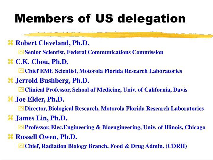 Members of us delegation