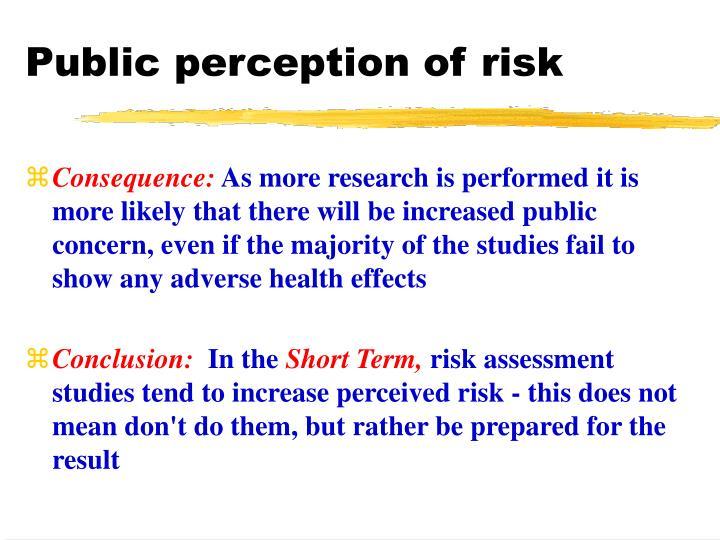 Public perception of risk