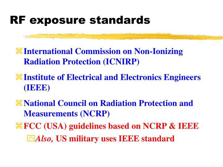 RF exposure standards