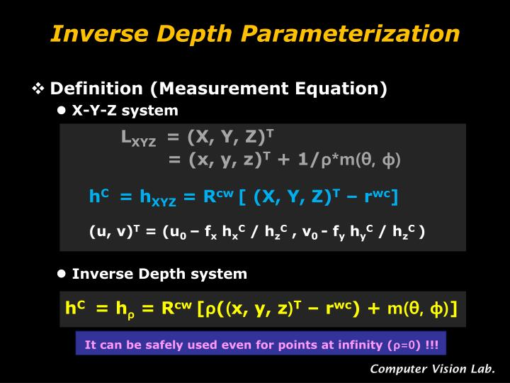 Inverse Depth Parameterization