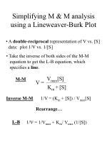 simplifying m m analysis using a lineweaver burk plot