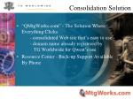 consolidation solution