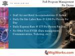 full program management per diems