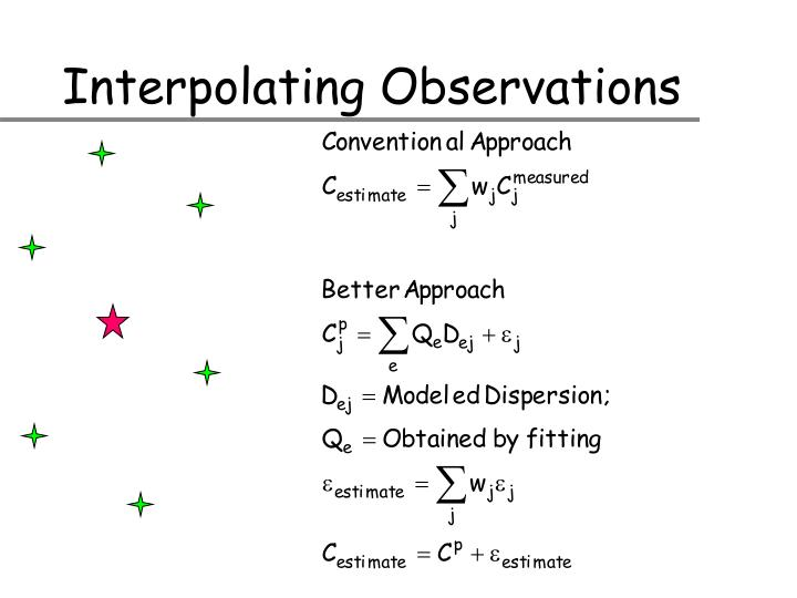 Interpolating Observations