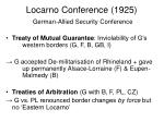 locarno conference 1925 german allied security conference