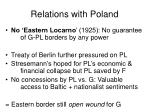 relations with poland