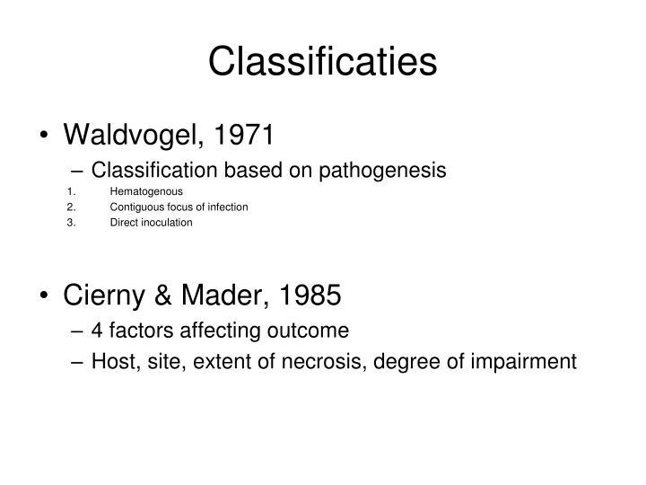 Classificaties