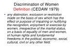 discrimination of women definition cedaw 1979