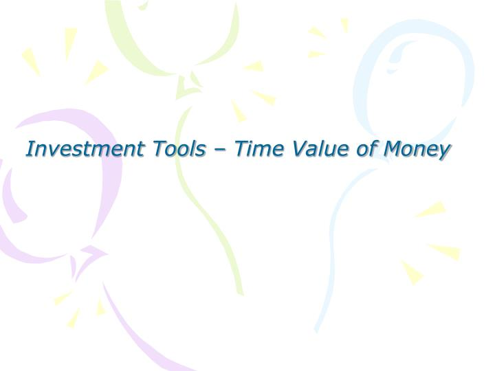 investment tools time value of money n.